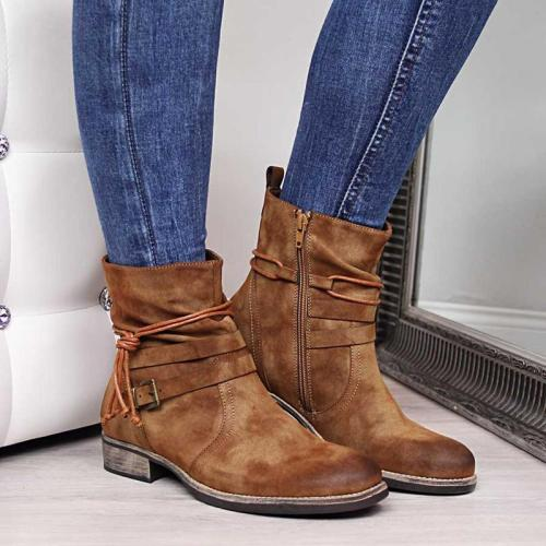 Women Daily Casual Buckle Strap Boots