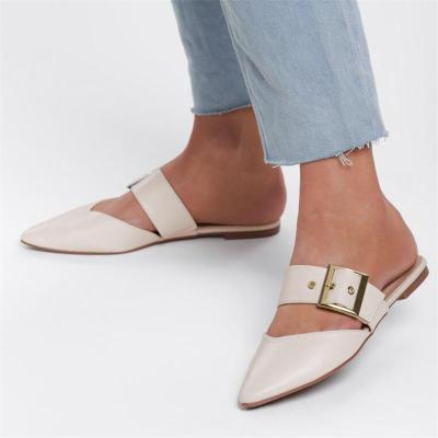 Fashion Pointed Flat Mules Shoes