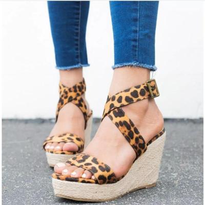 Fashion Open Toed Strappy Slope Heel Sandal
