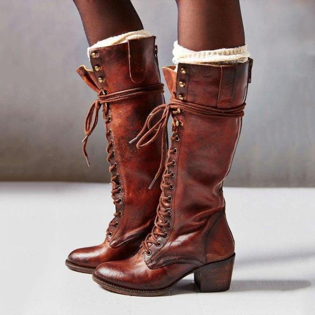 Soild Women Boots