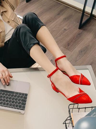 Women's Buckles Comfortable   Suede Flats