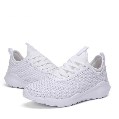 Plus Size Knit Athletic Shoes Comfy Lace-Up Sneakers