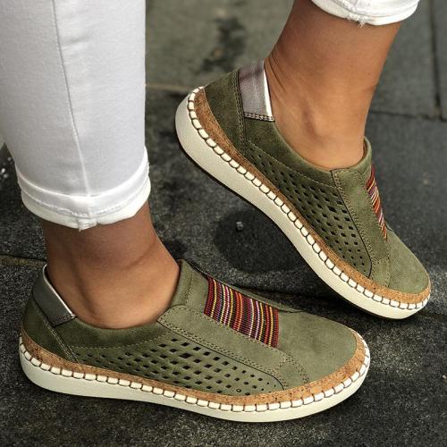 New Women Slip-on Sneaker Vintage Shoes Ladies Breathable Loafers Women's Flats Tenis Feminino Zapatos De Mujer