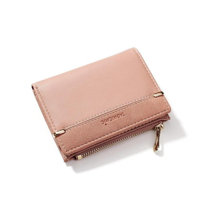 Women Wallets Leather Female Purse Mini Hasp Solid Multi-Cards Holder Fashion Coin Short Wallets Slim Small Wallet Zipper Hasp