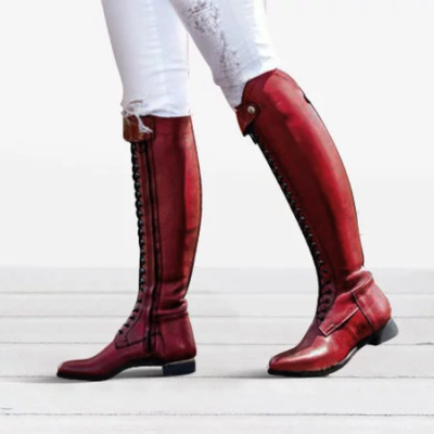 Women Plus Size Horse Riding Booties Casual Shoes