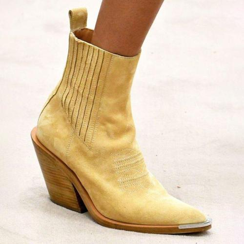7 Colors Daily Low Heel Solid Faux Suede Ankle Boots