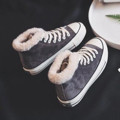 Women Suede Comfy Ankle Lace-Up Snow Boots