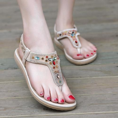 Shoes woman fashion sandals women 2019 outdoor casual beach sandals female sweet rhinestone women shoes zapatos de mujer