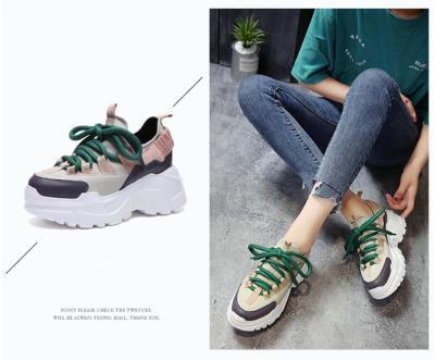 cuteshoeswearWomen Shoes New Arrival Chunky Sneakers Fashion Casual Vulcanize Shoes Flat Platform Height Increase Footwear Femme Krasovki