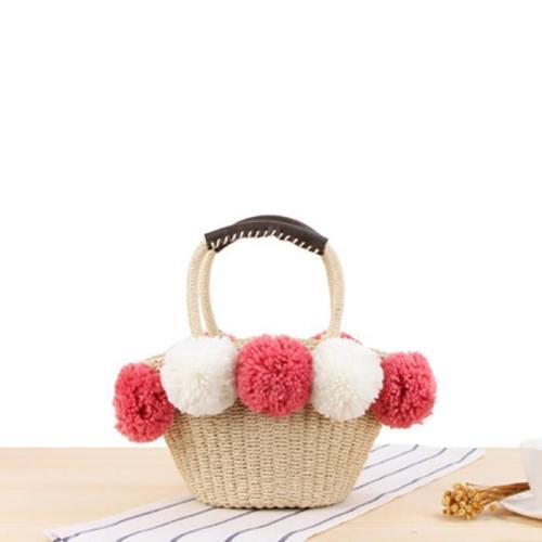 Lovely Wool Ball Shoulder Bag