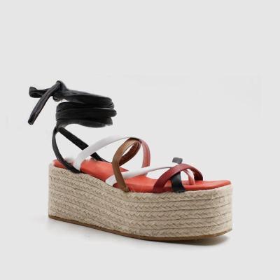 Women's Fashion Colouring Cross Straps Platform Sandals