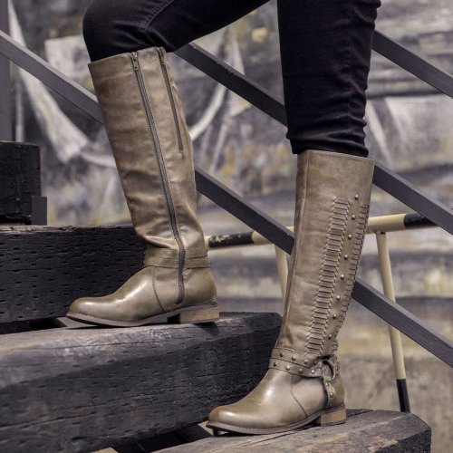 Women Winter Slip-On Knee-High Boots