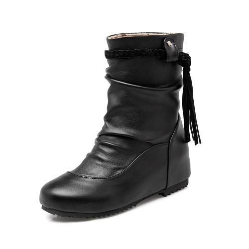 Women Tassel Short Boots Plus Size Autumn and Winter Shoes 9965