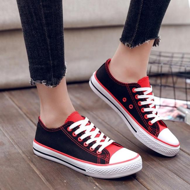 Classics Mixed Colors Women Espadrilles Low-top Flats Woman Four Seasons Popular Fashion Sneakers New Ladies Casual Canvas Shoes