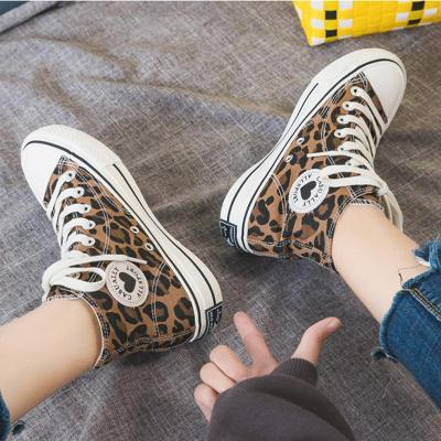Womens Lace-Up Canvas Summer Flat Heel Sneakers
