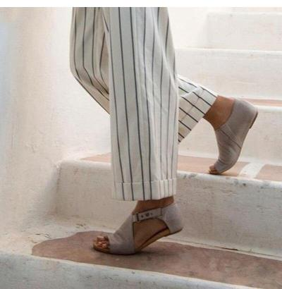 2019 Summer Shoes For Women Sandals Flat Fashion Solid Color Fish Mouth Buckle Low Heel Rome Shoes Sandale Femme