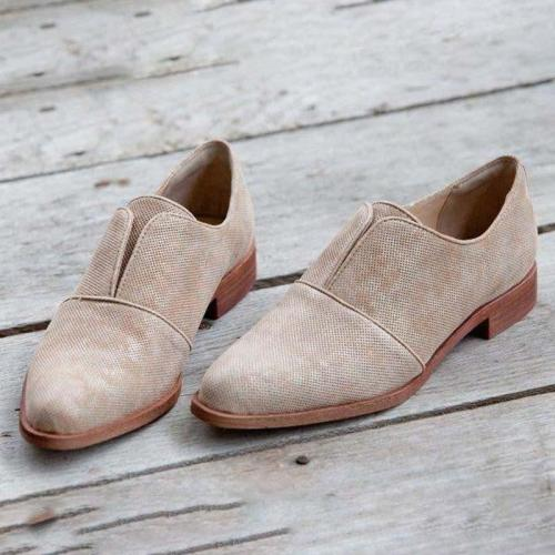 Womens Block Heel Loafers Slip-On Artificial Leather Loafers