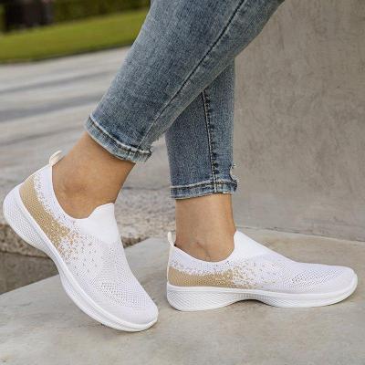 Elastic Cloth All Season Flat Heel Sneakers