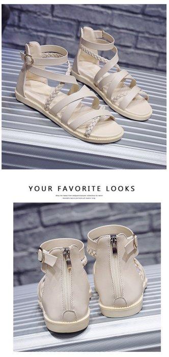 Fashion Rome Sandals Women Summer Shoes Flat Women Beach Sandals Female Sandalias Summer Casual Woman Black Shoes A1630