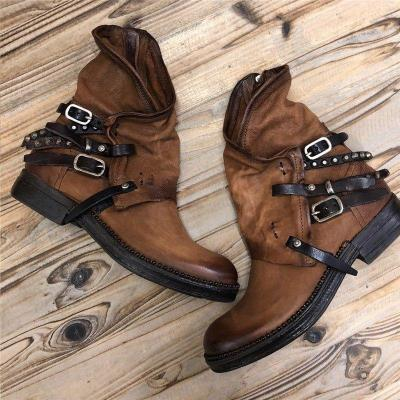 Women Casual Buckle Strap Ankle Boots