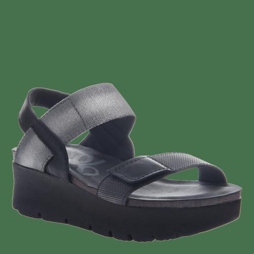NOVA in BLACK Wedge Sandals