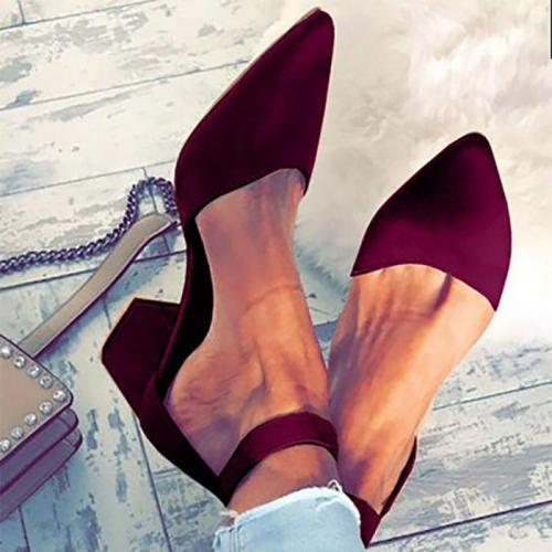 Rome Style Simple Middle Heel Sandal