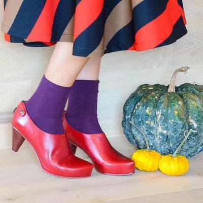 Women Stiletto Heel Elegant Boots Back Zipper Slip-On Heels