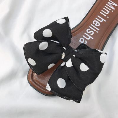 Slip On Flat Heel Bowknot Women Slippers