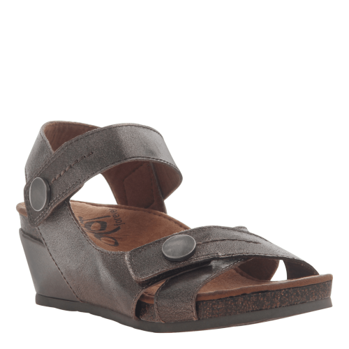 SANDEY in GUNMETAL Wedge Sandals