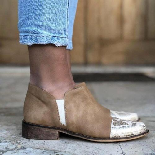 Artificial Leather Low Heel Loafers Slip On Casual Shoes