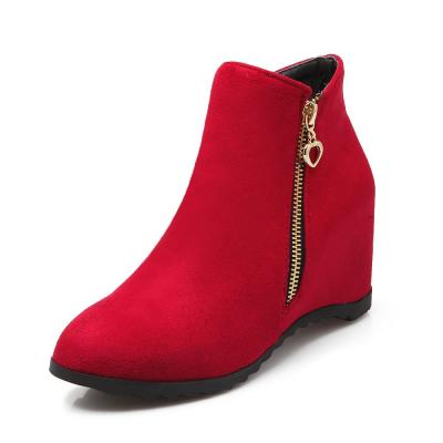 Winter Low Heel Wedges Short Boots