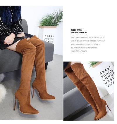 Slim Elastic Thigh High Boots Stiletto Heel 8927