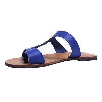 Women Leather Slippers Casual  Flip Flops Shoes