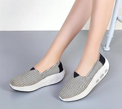 Spring Autumn Women Platform Shoes Height Increasing 5cm Woman Sneakers Fashion Slip-on Casual Canvas Shoes Ladies Loafers