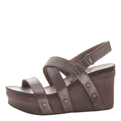 SAIL in PEWTER Wedge Sandals