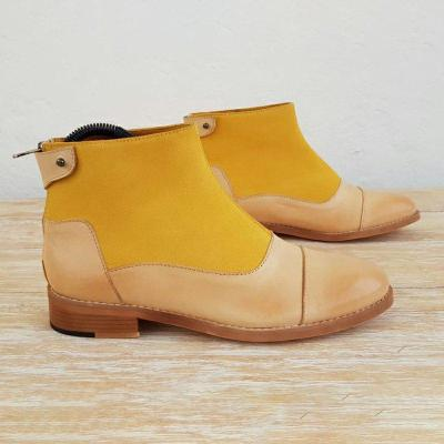 Simple Style Office Back Zipper Chunky Heel Ankle Boots