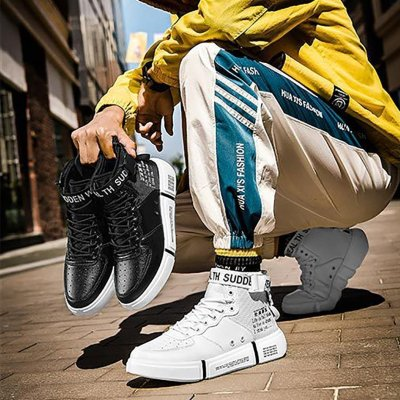 Male non-slip sports high top shoes