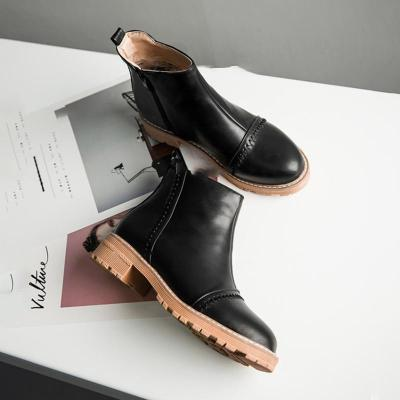 Women Ankle Boots Casual Chic Zipper Boots