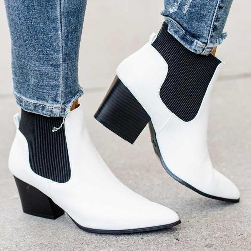 Fashion Elegant Slip-on All Season Ankle Boots