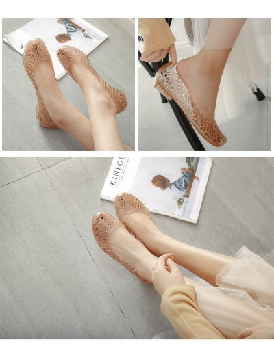 New Fashion Summer Women's Non-slip Sandals PVC Crystal Shoes Jelly Shoes Nest Female Slippers Beach Shoes