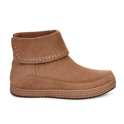 Women Winter Casual Slip-On suede Ankle Boots