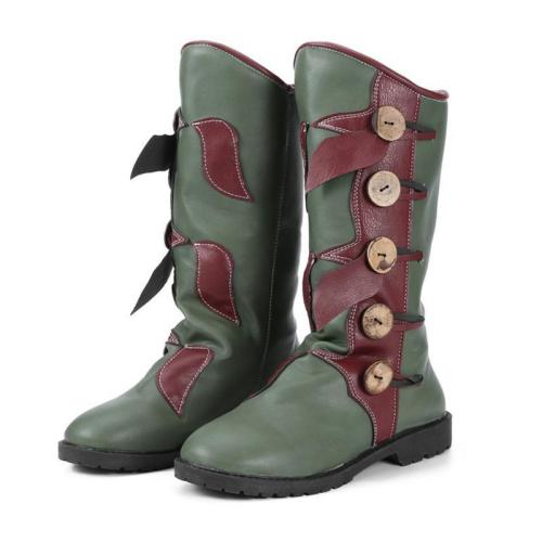 Plus Size Vintage Leather Zipper Flat Heel Mid Fall Boots