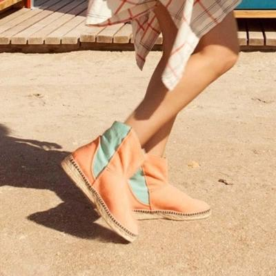 Espadrilled Platform Slip On All Season Ankle Boots