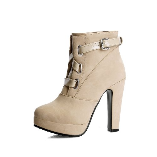 Women Shoes Super High-heeled Lace Up Platform Short Boots