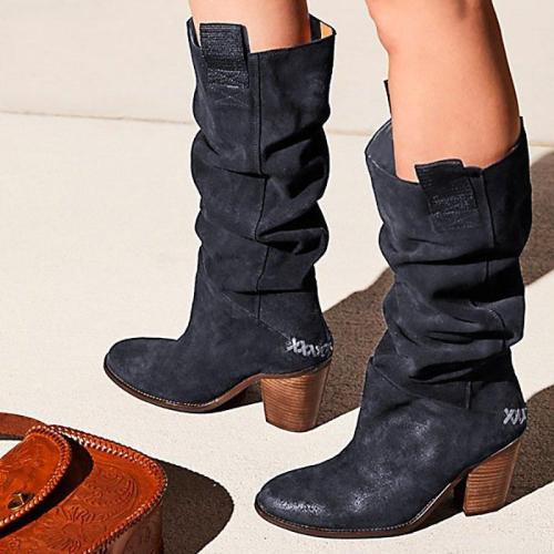 Women's Suede Western Cowboy Boots