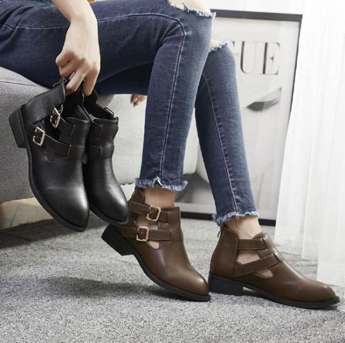Chunky Heel Daily Pu Shoes