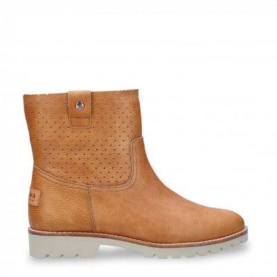 Brown Low Heel Booties