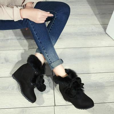 Winter Wedges Heel Increase Lace Up Ball Snow Boots