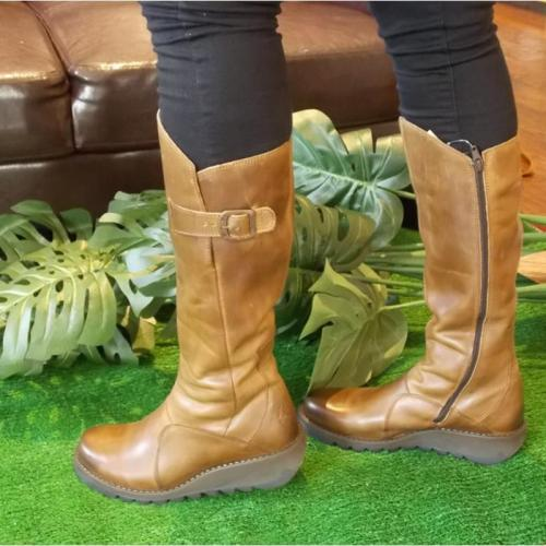 Women Vinatge Ladies Leather Tall Boots