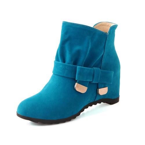 Knot Suede Short Boots Plus Size Women Shoes 1210